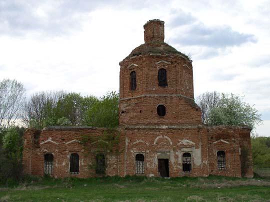 Аннино, Крестовоздвиженская церковь 1760 г. Фото Кожанова Александра, май 2010