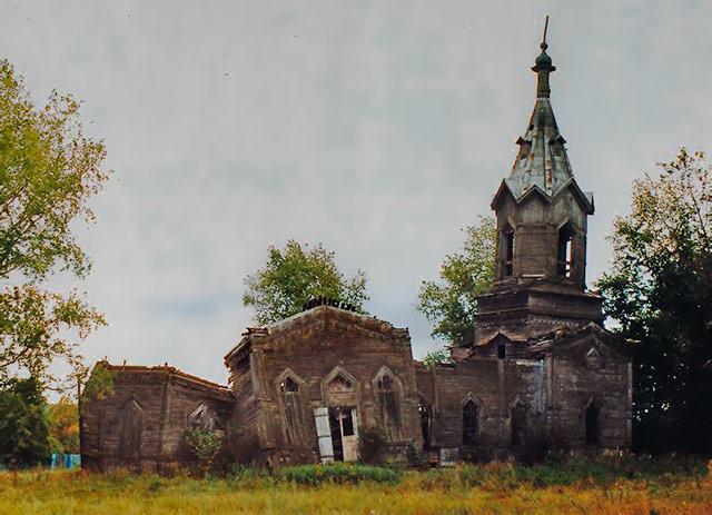 Церковь Живоначальной Троицы в селе Шарик, фото Андрея Агафонова, 01.05.2009