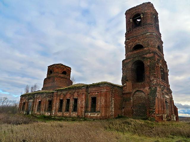 Космодамианская церковь в с. Мшанка, Скопинского р-она, Рязанской обл.