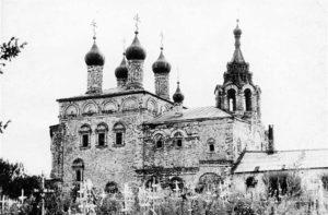 Церковь Воскресения Христова в с. Исады. В сер. XX в.